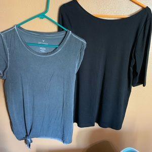 T Shirt Bundle Grey & Blk - American Eagle/O Navy